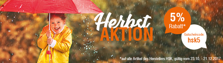 Herbstaktion 5% Rabatt HSK