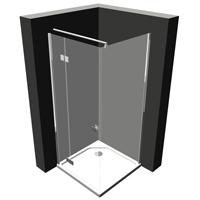 Duschtür mit Seitenwand