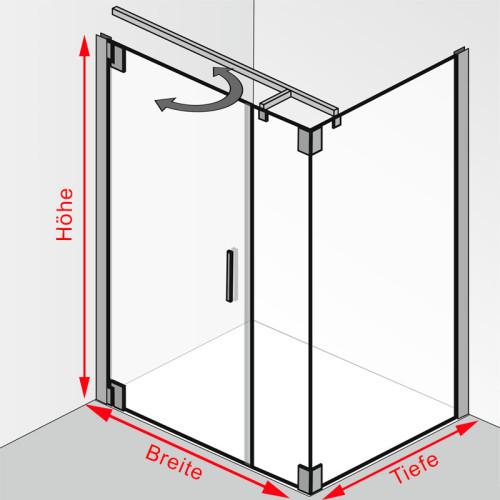 hsk k2p duscht r mit seitenwand hsk 2175090 2195080. Black Bedroom Furniture Sets. Home Design Ideas