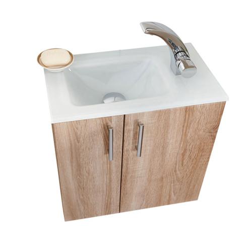 Puris for guests waschtisch mit unterschrank set fg50 02 for Glaswaschtisch mit unterschrank