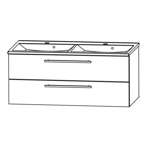 puris fresh waschtisch mit unterschrank puris fresh wtu wt 7. Black Bedroom Furniture Sets. Home Design Ideas
