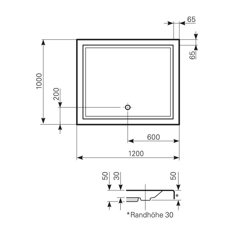 Styroporträger Rechteck ab 1600 mm