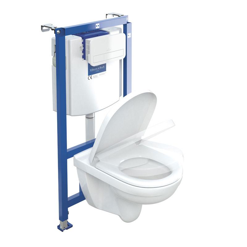 spülrandlos weiß O.Novo Tiefspül-WC compact 36 x 49 cm Combipack
