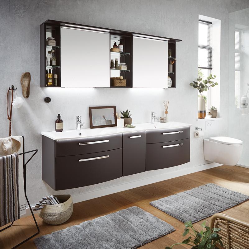 Puris Linea Waschtisch mit Unterschrank (SET-LN17-L-R)   badshop.de