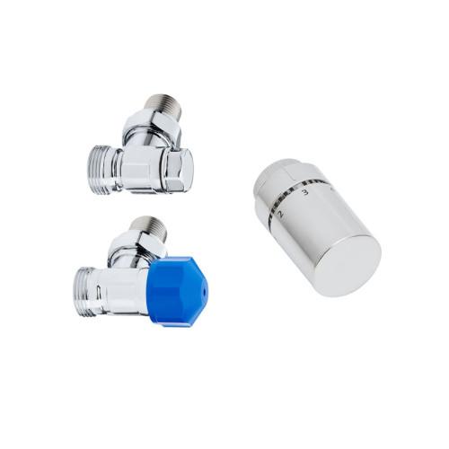 HSK Designheizkörper Anschlussarmaturen - Seitenanschluss Wand - Eckvariante