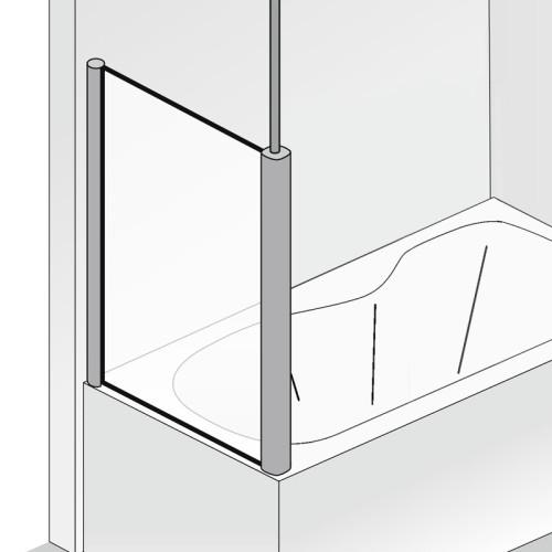 HSK Exklusiv Badewannenaufsatz Seitenwand