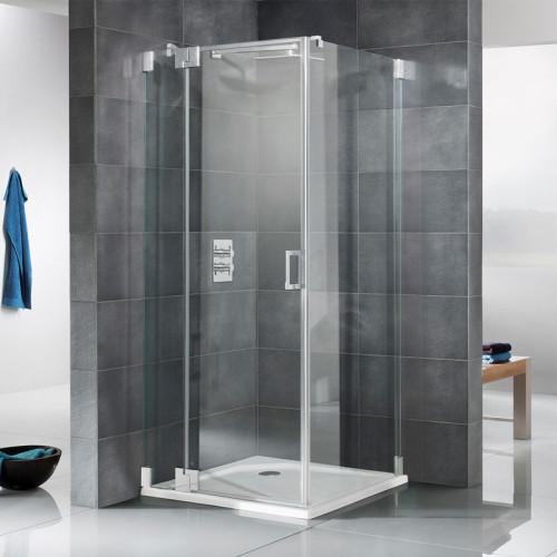 HSK K2 Drehtür an Festelement mit Seitenwand Skizze