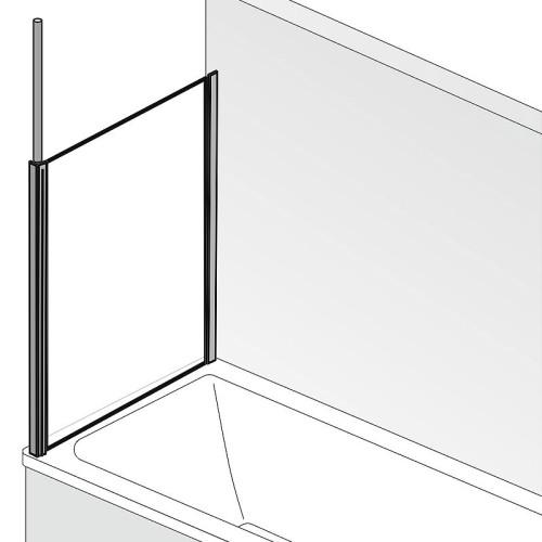 HSK Premium Softcube Seitenwand zu Badewannenaufsatz 2-teilig