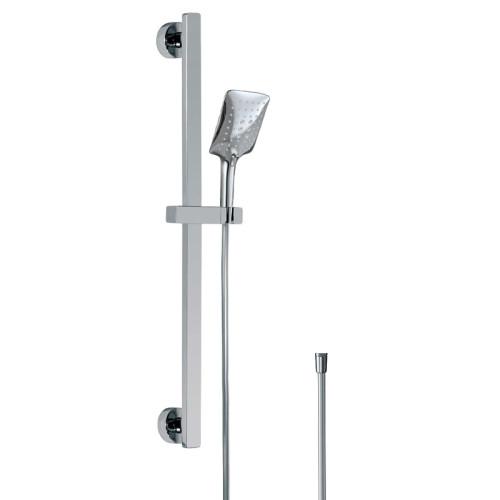 HSK Shower und Co Brausegarnitur mit Wandstange - Designhandbrause AquaSwitch