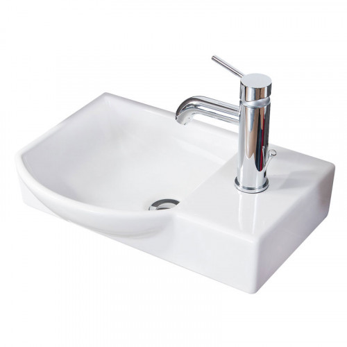 Fackelmann Waschtisch Gäste WC 45 cm Keramik, weiss