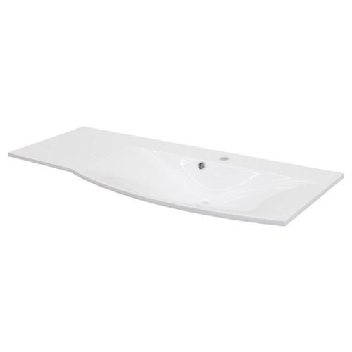 Fackelmann LuganoWaschtisch geschwungen, rechts, 115 cm, Weiß