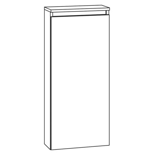 Marlin Bad 3290 Highboard - 40 cm, 1 Tür, 2 Glaseinlegeböden Skizze