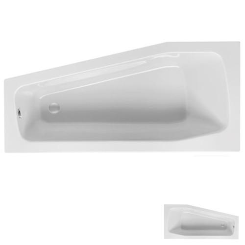 Mauersberger Globosa Raumspar-Badewanne 160 cm - Variante rechts