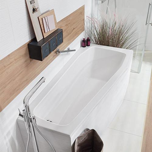 Mauersberger Globosa Raumspar-Badewanne 170 cm - Variante rechts