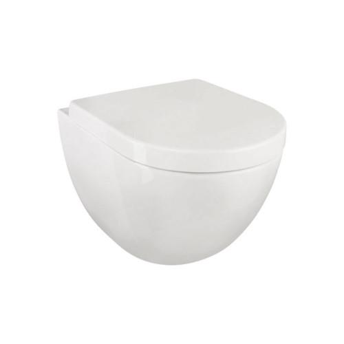 badshop.de Design WC-Set - Tiefspüler, spülrandlos, weiß, WC-Sitz