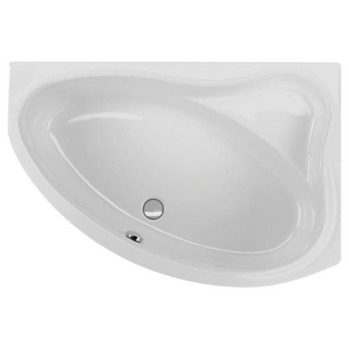 Schröder Wannentechnik Badewannen Raumspar-Badewanne Zürich - 140 / 96, Wasserfüllmenge: 180 Liter, weiß, Variante rechts- B: 1400 H: 400 T: 960