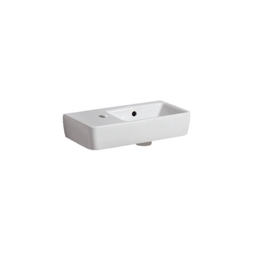 Geberit Renova Compact Waschtisch - Hahnloch, Überlauf, Ablagefläche