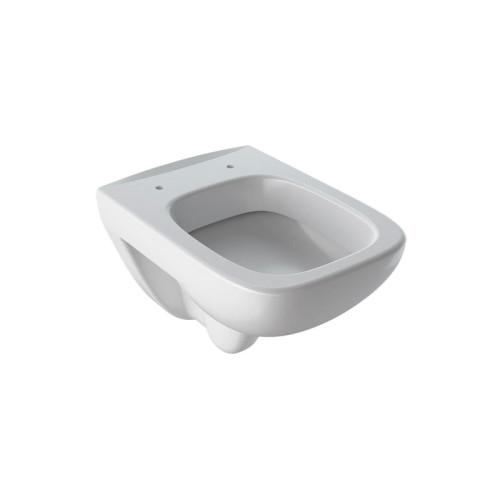 Geberit Renova Plan Wand-WC Tiefspüler, Spülrand, weiß