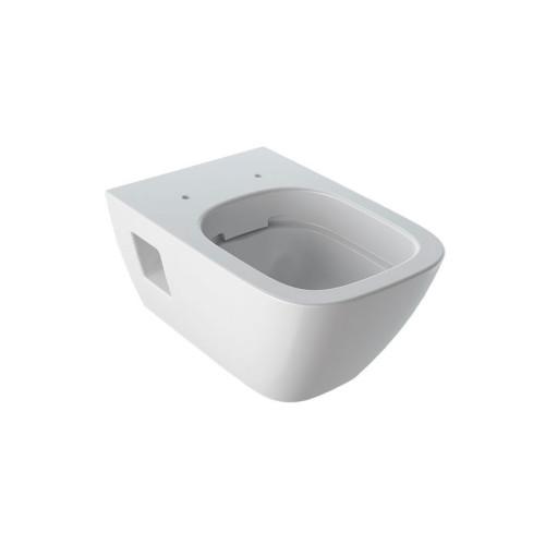 Geberit Renova Plan Wand-WC teilgeschlossene Form Rimfree, weiß, KeraTect