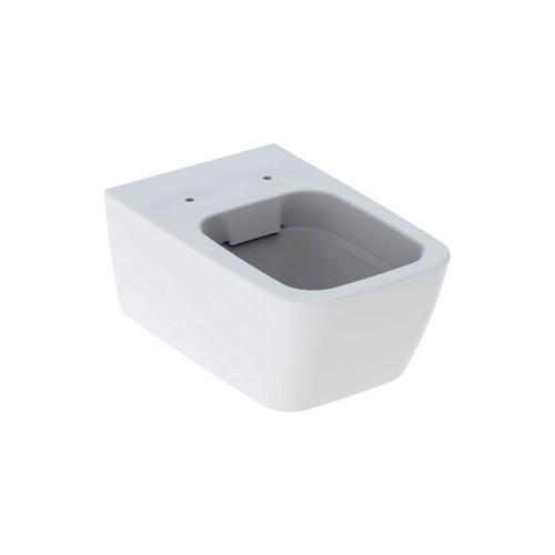 Geberit iCon Square Wand-WC Tiefspüler, spülrandlos, weiß