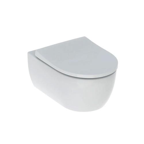 Geberit iCon WC-Set Wand-WC Tiefspüler, spülrandlos, mit WC-Sitz weiß