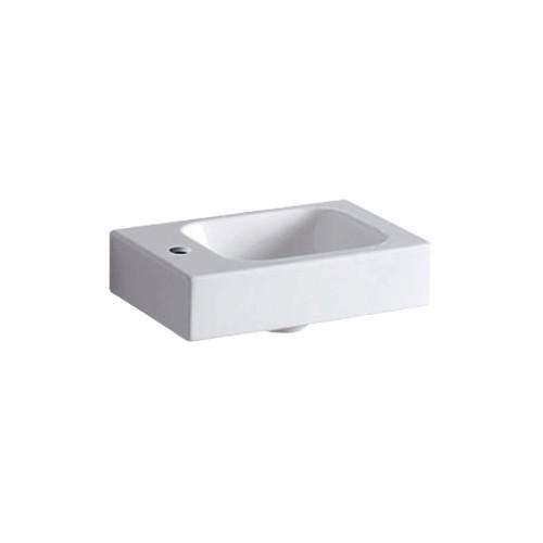 Geberit iCon Waschtisch - Waschbecken Hahnloch, weiß, KeraTect