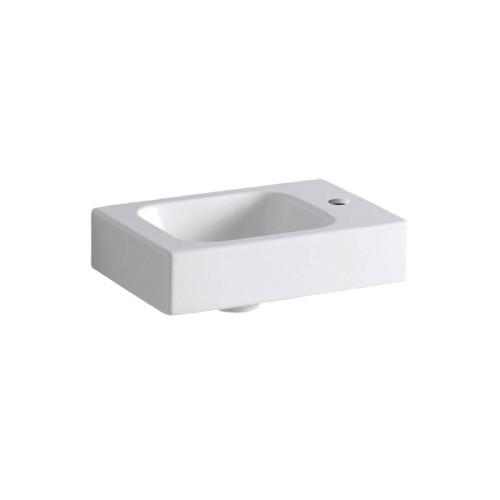 Geberit iCon Waschtisch - Waschbecken Hahnloch rechts, weiß, KeraTect
