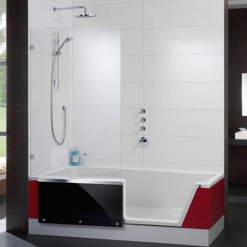 Repabad Easy-in Badewanne mit Tür - 180 rechts Eck links - Acryl, weiß