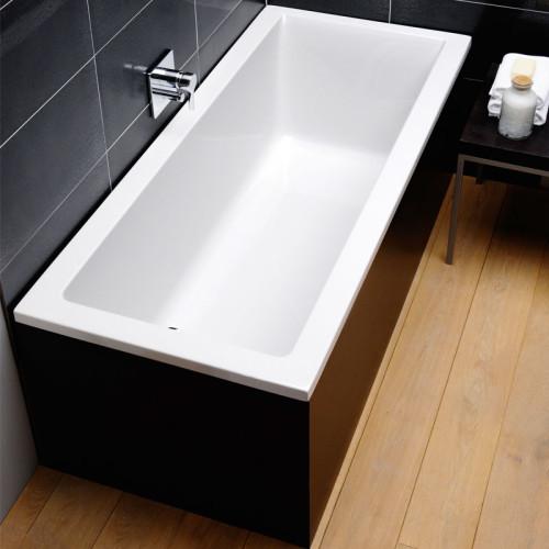 Repabad Genf Mono Rechteck-Badewanne - 170/75 - Acryl - ca. 180 Liter