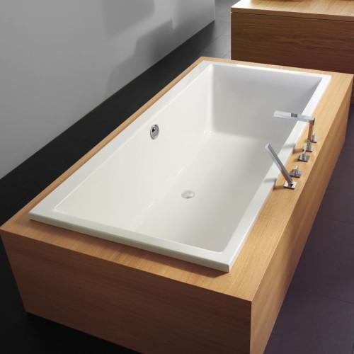 Repabad Genf Rechteck-Badewanne - 180 - Acryl - ca. 225 Liter