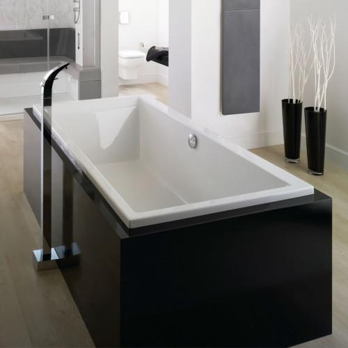 Repabad Genf Rechteck-Badewanne - 190 - Acryl - ca. 295 Liter