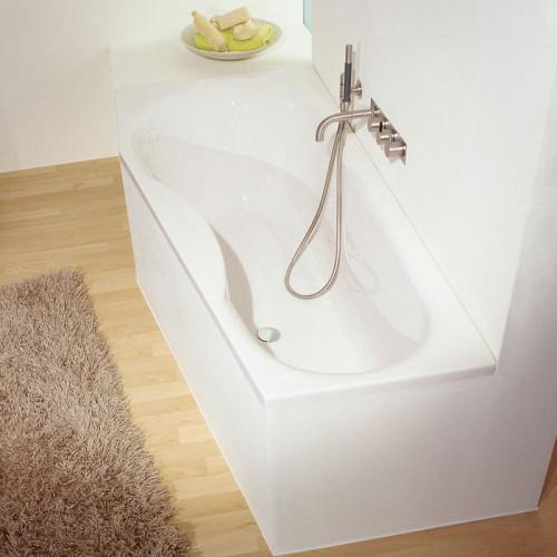 Repabad Tika Raumspar-Badewanne - 170 rechts - Acryl - ca. 140 Liter - Beispiel