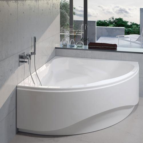 Riho Eck-Badewanne Neo - Acryl - 140 x 140 cm, 235 Liter, Weiß