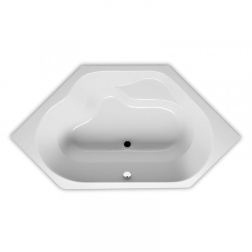 Riho Rechteck-Badewanne Winnipeg - Acryl - 145 x 145 cm, Farbe Weiß