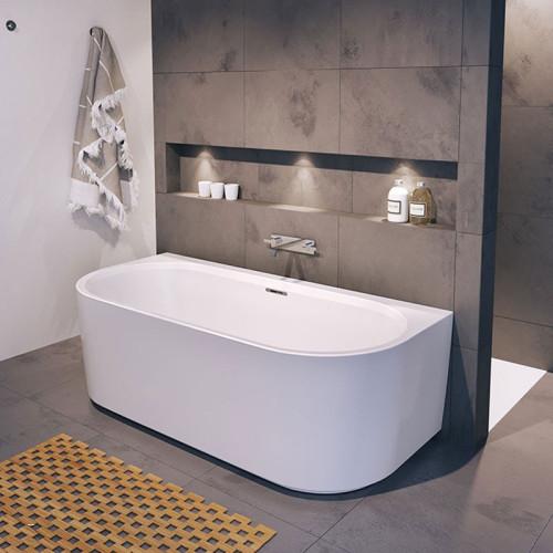 Riho Freistehende Badewanne Desire Back2Wall - Acryl - 180 x 84 cm, weiß