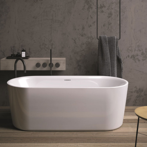 Riho Freistehende Badewanne Modesty - Acryl - 170 x 76 cm, Farbe: Weiß