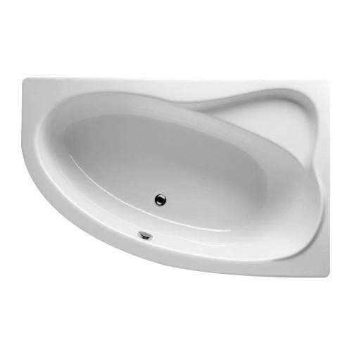 Riho Raumspar-Badewanne Lyra Links - Acryl - 170 x 110 cm, 200 Liter, Weiß