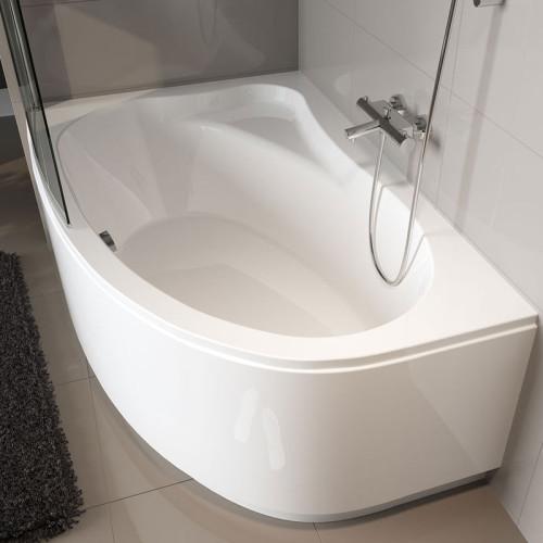 Riho Raumspar-Badewanne Lyra Rechts - 170 x 110 cm, 200 Liter, Weiß