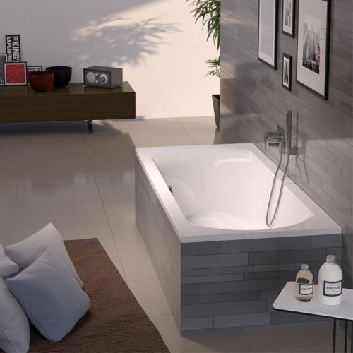 Riho Badewannen Rechteck-Lima - Acryl - 170 x 75 cm, 130 Liter, Weiß