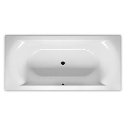 Riho Rechteck-Badewanne Linares - Acryl - 180 x 80 cm, Farbe Weiß