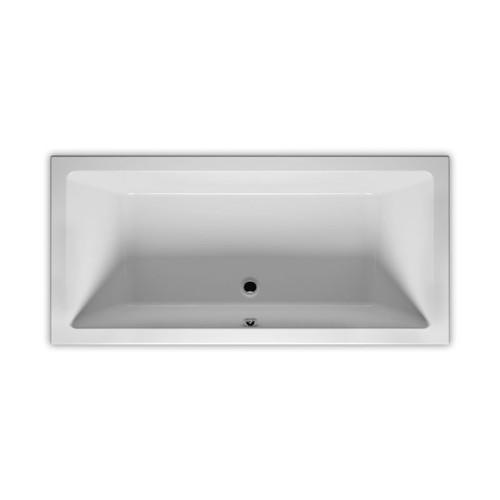 Riho Rechteck-Badewanne Lugo - Acryl - 180 x 80 cm, Farbe Weiß