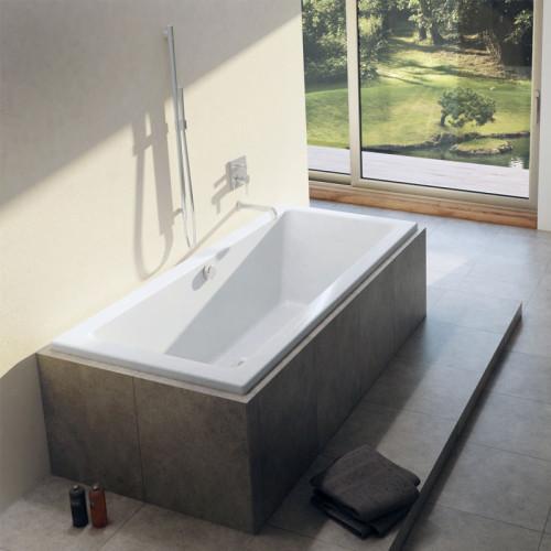 Riho Rechteck-Badewanne Lusso - Acryl - 170 x 75 cm, Farbe: Weiß