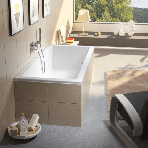 Riho Rechteck-Badewanne Lusso - Acryl - 190 x 80 cm, Farbe: Weiß