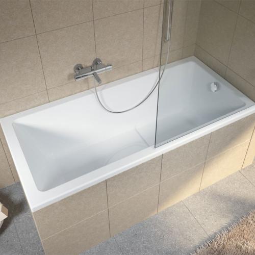 Riho Rechteck-Badewanne Lusso Plus - Acryl - 170 x 80 cm, Weiß