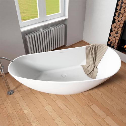 Riho Freistehende Badewanne Granada - Solid Surface - 170 / 80, weiß matt