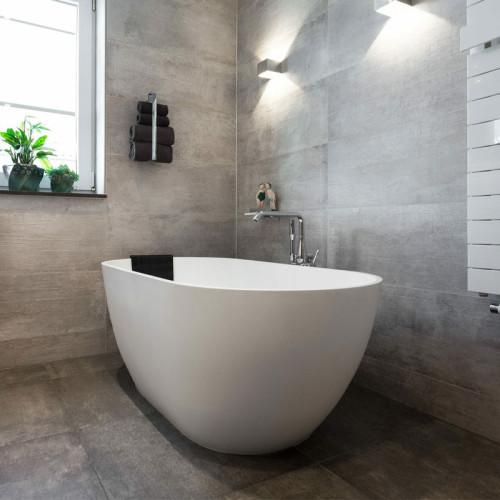 Riho Freistehende Badewanne Bilbao-Solid Surface - 150 / 75, weiß matt, Ambiente