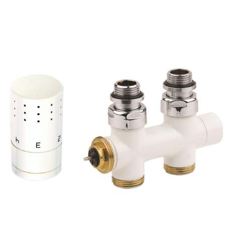 Corpotherma Anschlussarmaturen Design-Ventilarmatur Durchgangsform weiß