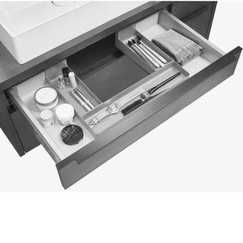 Nobilia Zubehör Einteilung - Ordnungssystem - aus Kunststoff, grau