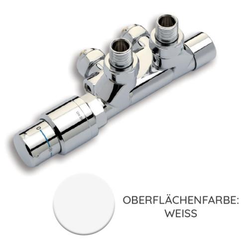 Nordholm Twin Reg 500, Weiß, Thermostat-Ventil schwenkbar