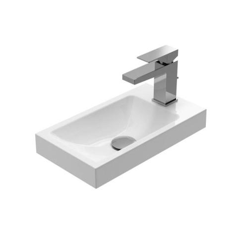 Treos Mineralguss Hand Waschbecken mit Hahnloch